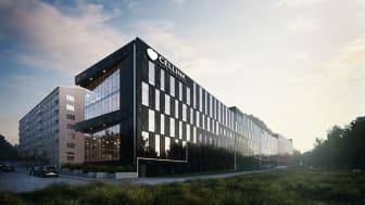 Cellink etablerar sig i Entré Kallebäck. Arkitekt och renderingsbild Liljewall Arkitekter, bildmontage GAJD Arkitekter.