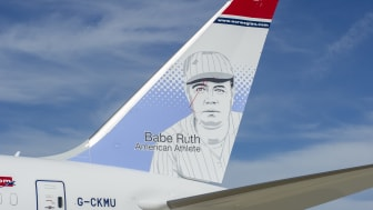 Babe Ruth, legendary baseball player, is Norwegian's fourth American tailfin hero