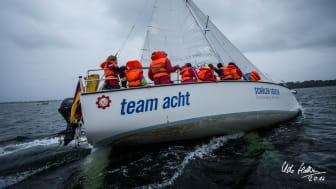 Am 08. September segeln über 100 Schüler*innen aus ganz Schleswig-Holstein beim SchülerCup 2021 auf der Kieler Förde. Foto: Udo Hallstein, Eckernförde