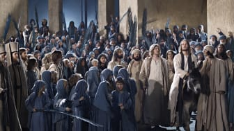 Oberammergau: Jesus ankommer Jerusalem