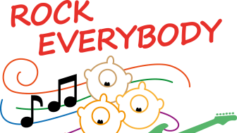 Rock Everybody – logotype i färg