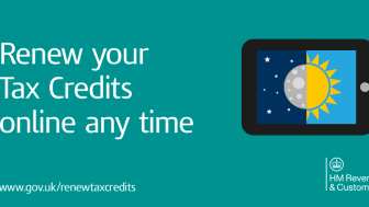 HMRC urges everyone to renew their tax credits early and online