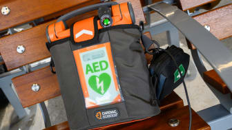Defibrillators at every station - close up 2