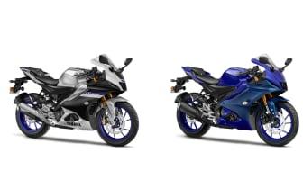 (LEFT) YZF-R15M (Silver) ,  (RIGHTH) YZF-R15 (Blue)
