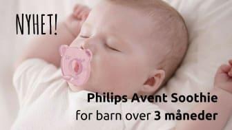 Nyhet: Philips Avent Soothie – myk silikonsmokk for barn over 3 måneder