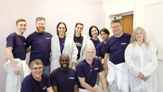 A team from Mondelēz International took time out of work to refurbish a local cancer charity