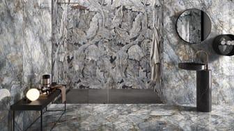 Badrumstrender 2020; Tele Di Marmo, plattor marmorimitation /granitkeramik, Kakeldaxgruppen