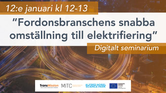 Digitalt seminarium med Scania & elektrifiering – 12 januari kl 12-13