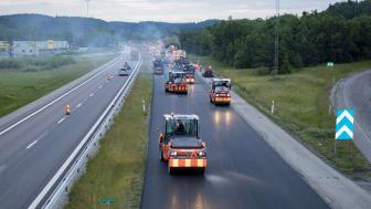 Peab Asfalt får Trafikverkets klimatbonus för beläggningsarbete