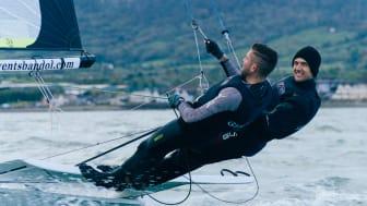 Olympic sailor Ryan Seaton back training at his home club in Carrickfergus. Photos by Ryan Wilson.