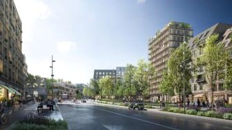 Visionsbild: Framtidens Stora Sköndal.