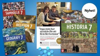 Nya serien SOL NOVA har årskursböcker i respektive SO-ämne och följer de reviderade kursplanerna för 2021.