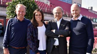 Elite Hotels ägare Bicky Chakraborty och Caroline Chakraborty stöttar svensk tennis