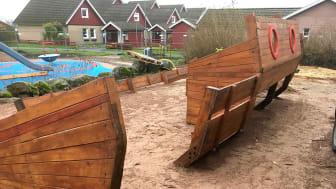 Skeppsbrott - anpassad sandlek