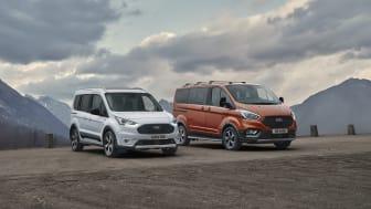 Uudet, tyylikkäät ja suorituskykyiset Ford Tourneo Connect Active ja Transit Connect Active* kutsuvat seikkailemaan