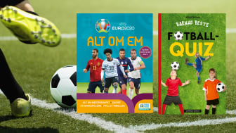 Mange ser frem til EM i fotball 2021, som går av stablene 11. juni til 11. juli 2021, ett år forsinket. Her er bøkene de yngste entusiastene kan lade opp med.