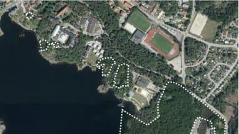 Det är det här området som förslaget till områdesbestämmelserna för Väggaparken gäller.