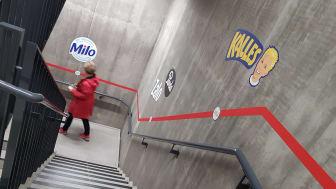 Kreativ väggdekor Orkla huvudkontor Oslo