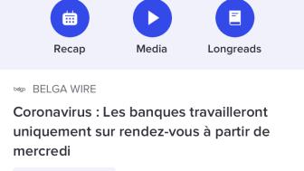 L'app Belga.press: #coronavirus