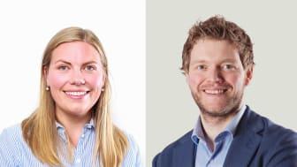 MUST-leder Karine Gjersø og Martin Halvorsen, leder for rekruttering i Multiconsult. Copyright: Multiconsult/Thomas Haugersveen