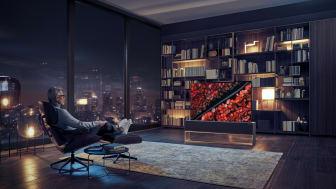 LG præsenterer verdens første sammenrullelige TV