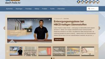Seit Januar auf Sendung: dach-holz.tv