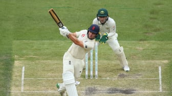 James Bracey on the attack against Australia A at the MCG (Getty Sports)