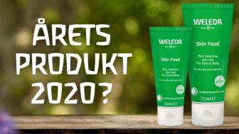 """Weleda Skin Food utvald i tävlingskategorin """"Årets Produkt"""" 2020"""