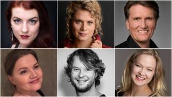 Oppe frå venstre: Marika Schultze, Vibeke Kristensen, Trond Halstein Moe, nede frå venstre: Siv Oda Hagerupsen, David Fielder og Elisabeth Gimmestad