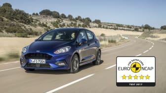 Nya Ford Fiesta får fem stjärnor av Euro NCAP.