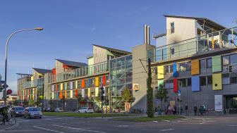 Stadsdelen Vauban Freiburg i södra Tyskland kännetecknas av hållbart boende och lågt bilinnehav.