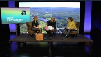 Premiären på Studio Visit Värmland bjöd på kunskap, inspiration och engagemang från bl.a. moderator Lottie Knutson och Mia Landin, vd Visit Värmland.