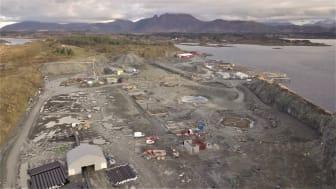 STORE DIMENSJONER: På denne tomten i Hustadvika har Salmon Evolution AS planer om å etablere oppdrettsanlegget som på sikt skal produsere 36.000 tonn laks hvert år (Foto: Salmon Evolution)