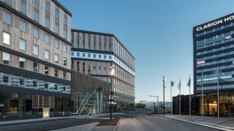 The new Office One complex at Stockholm Arlanda Airport. Photo: Tim Meier.