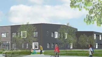 Maria Parkskolans nya skolhus. Bild: Arkitektlaget