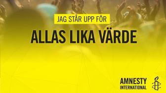Amnesty deltar i Women´s March i Stockholm