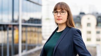 Johanna Ode, bostadspolitisk expert och verksamhetsutvecklare på Riksbyggen. Foto: Evelina Carborn