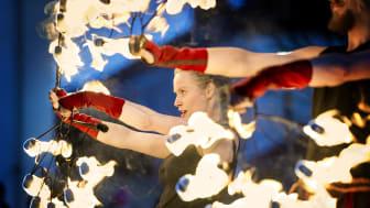 Magisk eldshow med Eldfågel klockan 16 och 17.