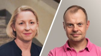 Sara Laurell, CEO Loopia Group and Lauri Kasti, founder and Managing Director of Planeetta Internet Oy.