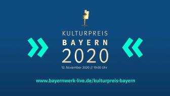 Kulturpreis Bayern erstmals im Livestream - Bayernwerk ehrt 6 Künstler und 33 Wissenschaftler am 12. November