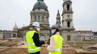 On the roof of the new Radisson Collection Hotel. Picture Courtesy of Graphisoft