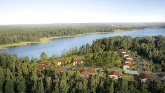 Laddstation till varje lägenhet i Brf Korseberg Park i Vänersborg