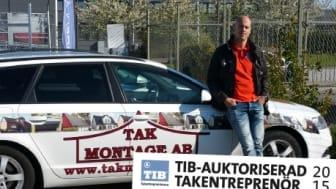 Johan Börjesson, VD på Takmontage AB, hoppas i framtiden slippa konkurrera med oseriösa entreprenörer.