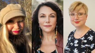 I panelen: Unni Drougge, redaktör Kvinnotryck, Maria Sveland, författare och journalist, Susanna Eriksson, jurist och grundare Indile juristbyrå.