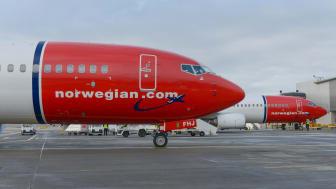 Norwegian 737-800 aircraft at Gatwick