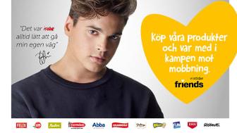 Oscar Zia ger historier ett gott slut i kampanj med Friends och Orkla Foods Sverige