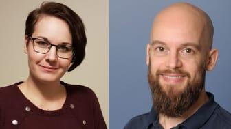 Caroline Ahlroth Pind och Kåre Tham har i år tilldelats Praktikertjänsts forsknings- och utvecklingsbidrag.