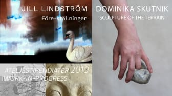 Jill Lindström/Före - ställningen, Domika Skutnik/Sculpture of the terrain, Work in progress/Rosalia Ramirez och Xenia Klein
