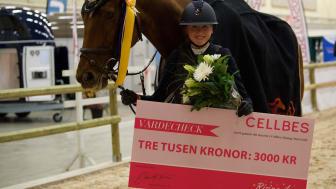Vinnare i CELLBES Rising Star Gold Cornelia Wallenborg på Manick. Fotograf: Haide Westring