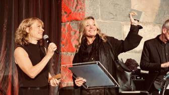 Gry Forssell tar emot priset som Årets Programledare 2019.